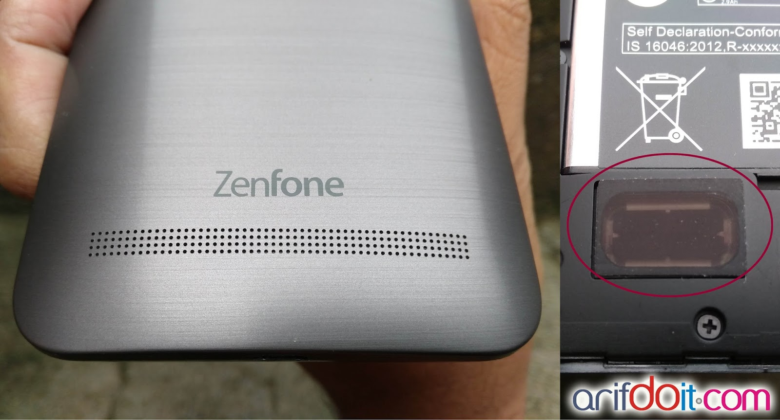 Speaker lebih besar dan tampak luar speaker zenfone 2 selfie