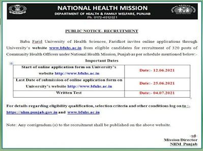 NHM CHO Recruitment 2021