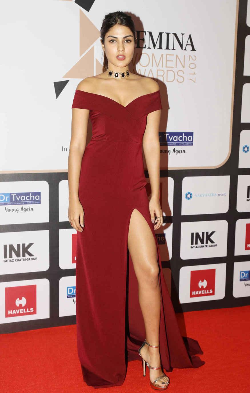 Rhea Chakraborty Poses During Femina Women Awards 2017 Event