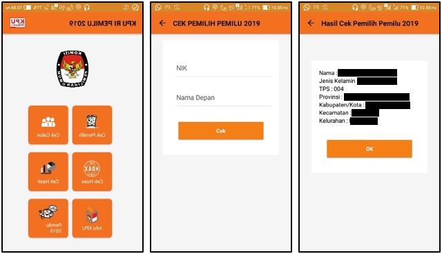 Cara Cek Nama Anda di Daftar Pemilih Tetap 2019 Lewat HP Android