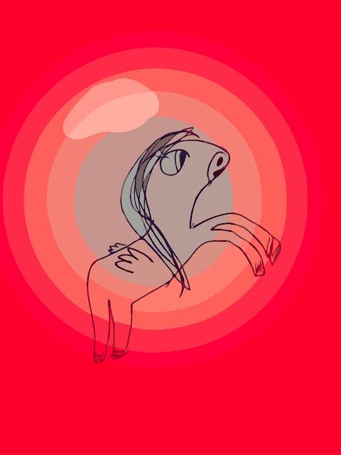 Unicorn pink free drawing by Alex