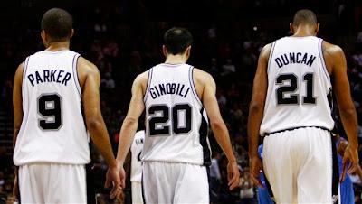 San Antonio Spurs - Tim Duncan Tony Parker Ginobilli