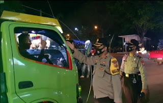 Patroli Malam Skala Besar Operasi Yustisi Penegakan Protokol Kesehatan langsung Dipimpin Oleh Kapolres