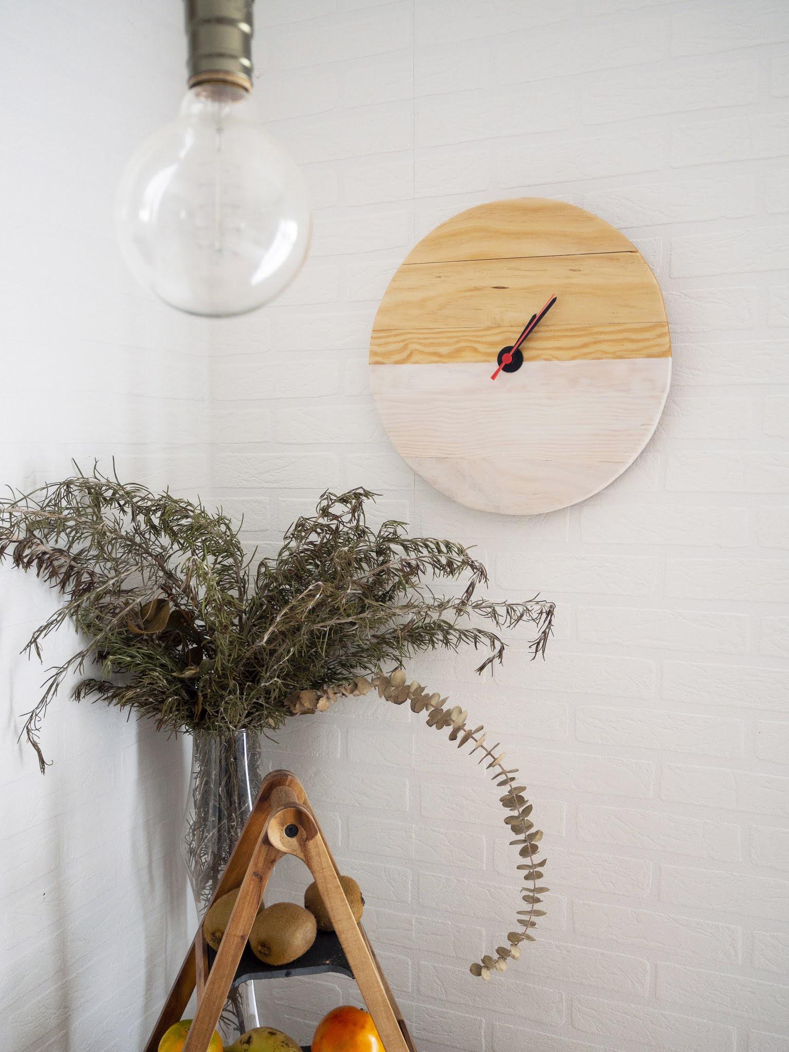DIY Reloj de madera para nuestra cocina_Decorar en familia3