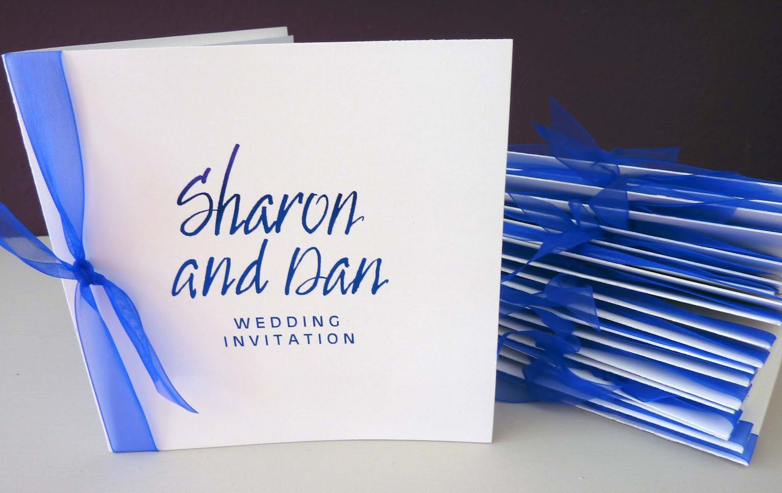 Sharon And Dan Handmade Wedding Invitations