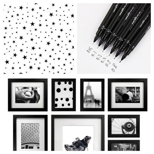 JULY Moodboard - Frames - Stars - Ink