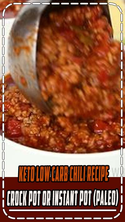 Keto Low Carb Chili Recipe - Crock Pot or Instant Pot (Paleo) - An easy keto low carb chili recipe without beans. Instructions for a Crock Pot slow cooker or Instant Pot pressure cooker! Common ingredients & 15 min prep. #keto #ketodiet #glutenfree #healthy #lowcarb #Wholesomeyum #dinner #lunch #breakfast #dairyfree #paleo #whole30