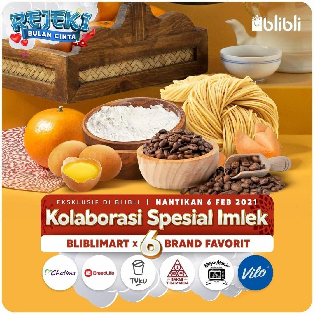 BLIBLImart X Chatime X Breadlife [6 Brand Favorit] Promo Rejeki Bulan Cinta