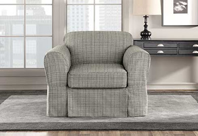 Miraculous Sure Fit Slipcovers Avenue The New Textured Tweed Collection Short Links Chair Design For Home Short Linksinfo