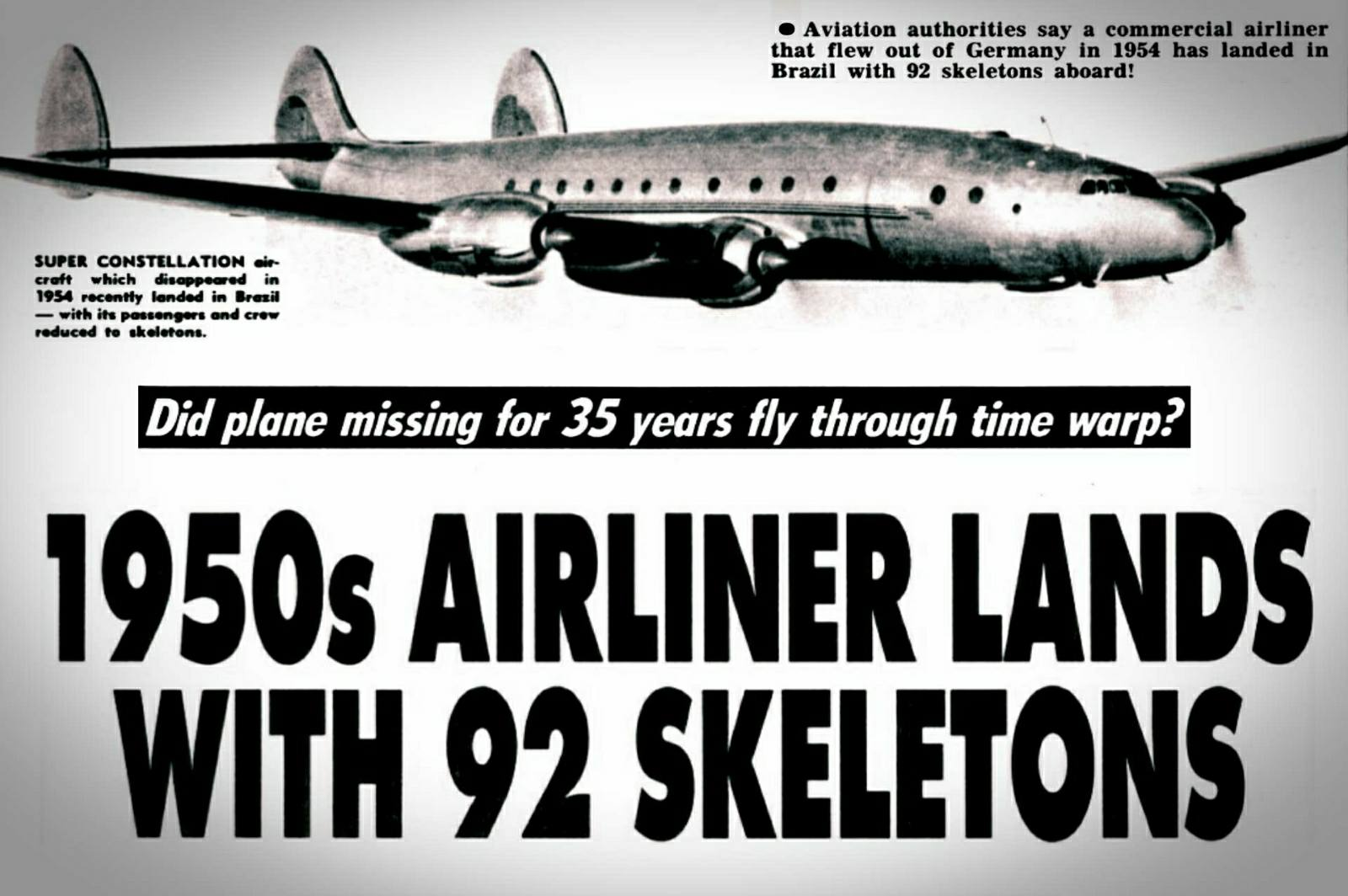 The most mysterious disappearance of the aircraft