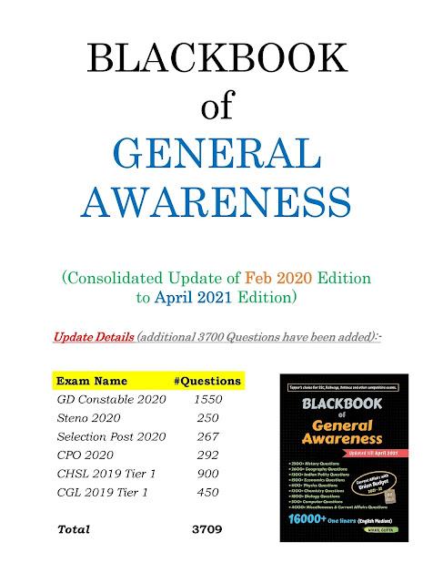 Blackbook of general awareness update pdf download