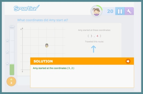 Smartick math program gives kids correct answers when they miss a question