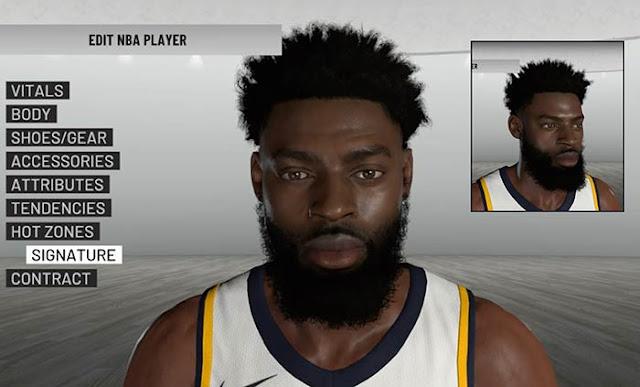 NBA 2K19 Tyreke Evans Cyberface