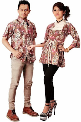 model baju batik couple pasangan terbaru