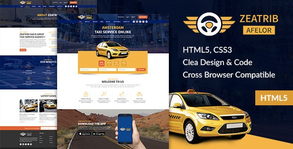 Car renting services website theme