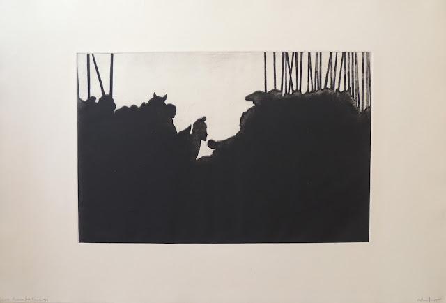 Antoni Miró grabado expresionismo