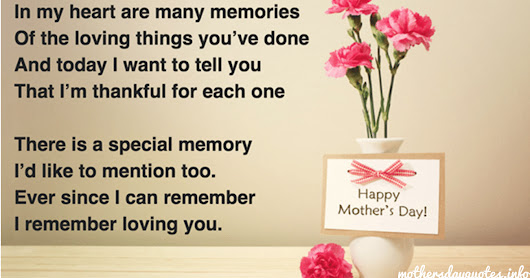 Happy Mothers Day 2017 Short poems quotes