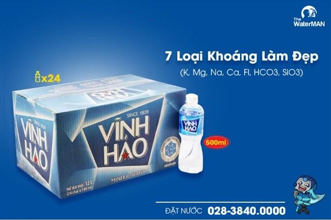 Thùng nước khoáng Vĩnh Hảo chai 500ml