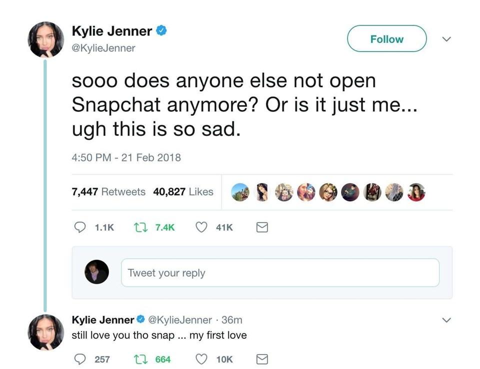 Kylie Jenner Twitter Post