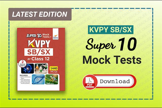 Disha KVPY Stream SB/SX Super Mock Tests eBook Pdf Free Download