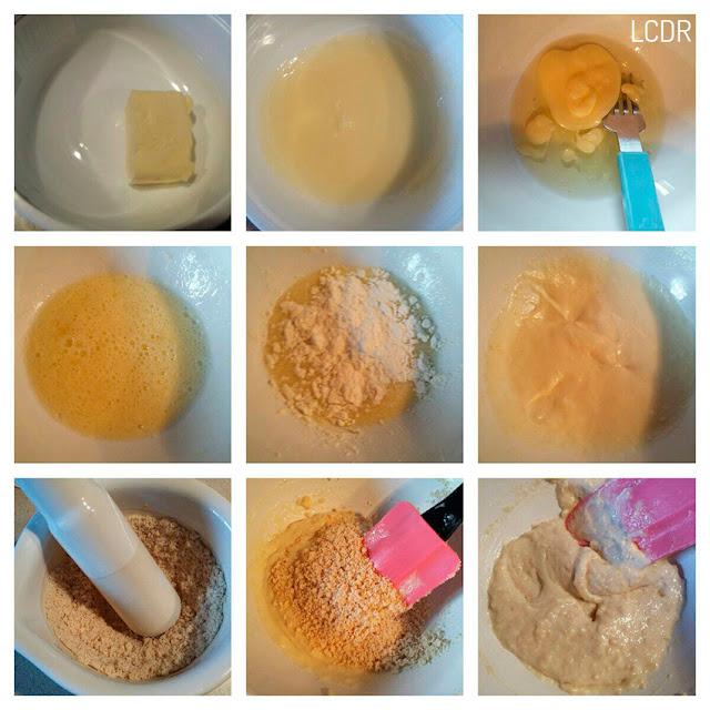 Receta de ensalada de frutas con helado exprés y crujiente de piñones 02