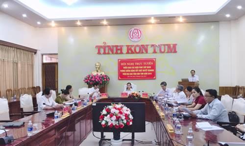 Hội nghị trực tuyến triển khai các biện pháp cấp bách phòng chống bệnh sốt xuất huyết Dengue trên địa bàn tỉnh Kon Tum năm 2019