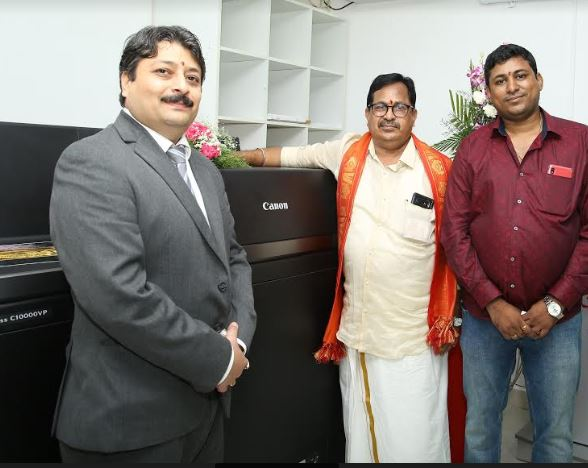 Canon India strengthens its footprint in South India, installs its flagship machine imagePRESS C10000VP in Chennai