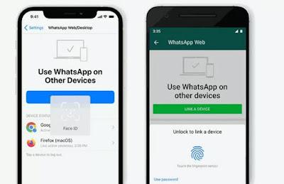 واتساب ويب WhatsApp Web الآن أكثر حماية عبر بصمتي الأصبع والوجه