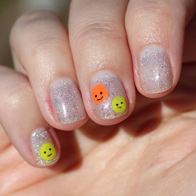 Happy face nail art