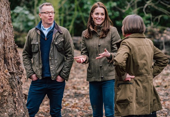 Kate Middleton wore her Dubarry bracken jacket and J Crew mockneck sweater