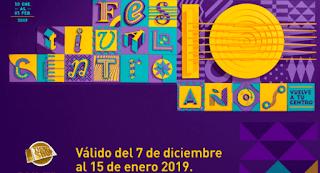 Abonos para la edición DIEZ Festival Centro