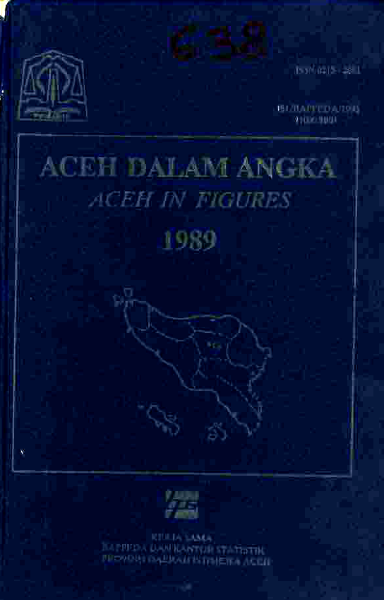Aceh Dalam Angka 1989 Penerbit Bps Provinsi Aceh Banda Aceh