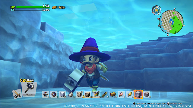 Dragon Quest Builders 2 swimming
