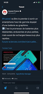 gsmarena 001%2B%25281%2529 - The Huawei France have also tweeted that, the P40 will use graphene battery