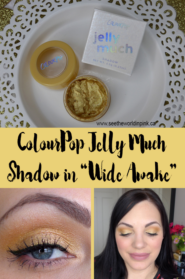 ColourPop Jelly Much Shadow in Wide Awake - Swatches, Try-on and Review