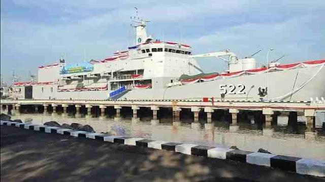 Perkuat Kolinlamil, TNI AL Resmikan LST KRI Teluk Youtefa 522