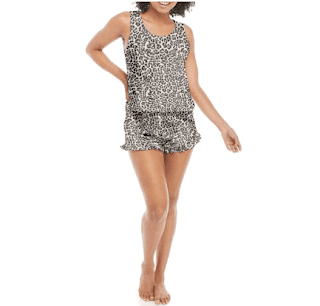 $5.20, 2-Piece Derek Heart Junior's/Women's Cropped Tank & Shorts Sleep Set