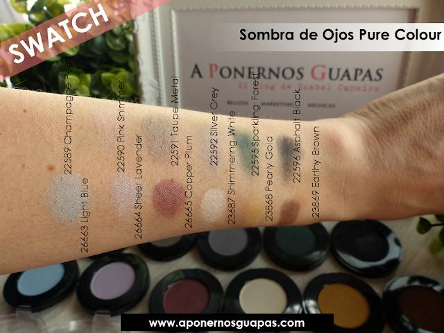 Swatch sombra de ojos Pure Colour Oriflame A Ponernos Guapas
