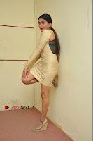 Actress Pooja Roshan Stills in Golden Short Dress at Box Movie Audio Launch  0148.JPG