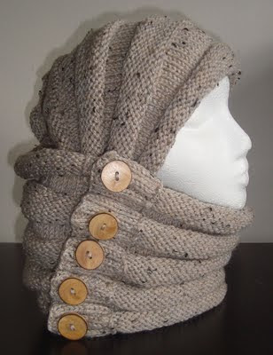 Knitting Pattern For Shrug With Hood : Cowl. Hood. Scarf. Shrug. Hand Knitting Pattern. Four ways ...
