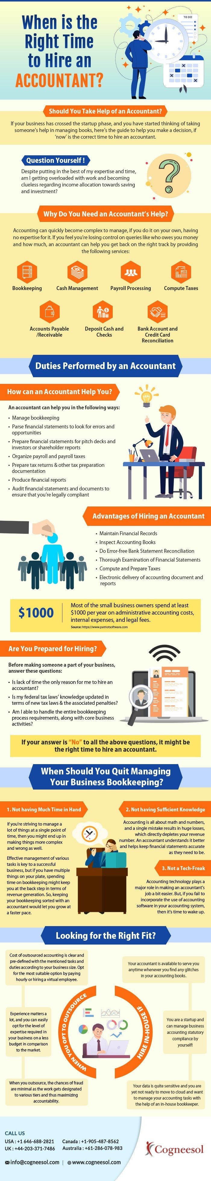 When is the Right Time to Hire an Accountant? #infographic