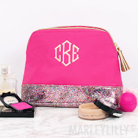 pink bag for cosmetics and toiletries