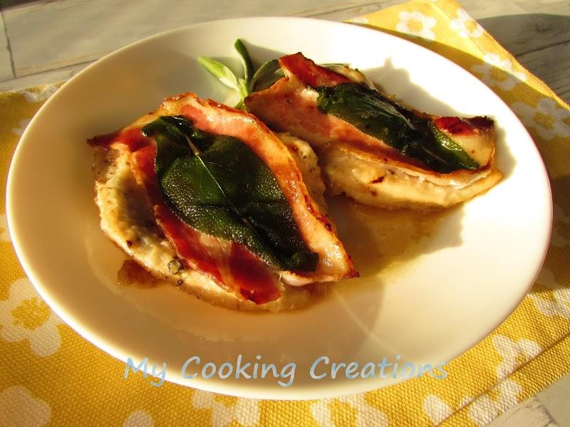Салтимбока с пилешко филе * Saltimbocca di pollo