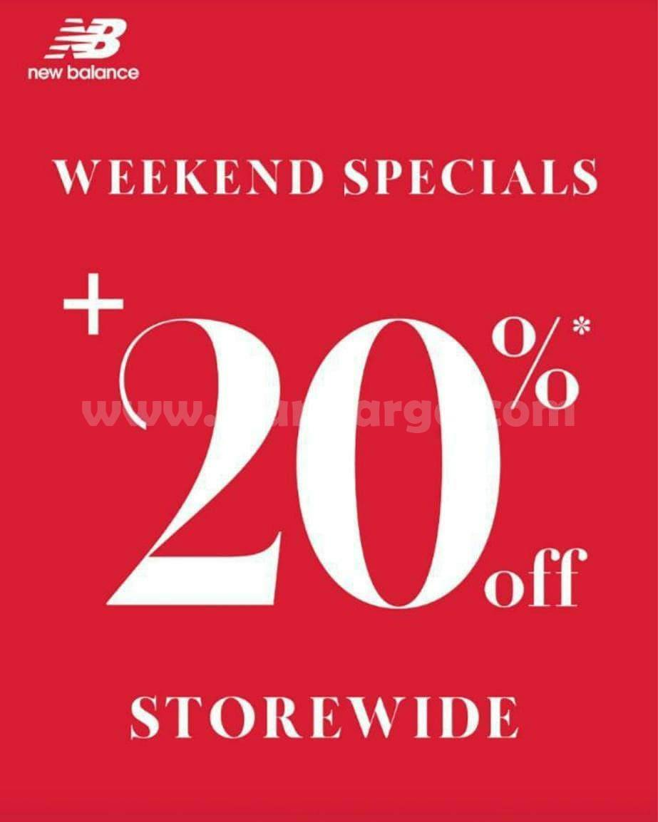 New Balance Promo WEEKEND SPECIALS + 20% Off Storewide