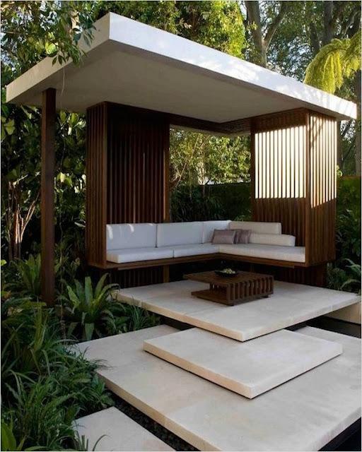 modern contemporary garden patio designs ideas