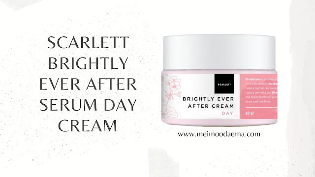 Scarlet brightly ever after serum day cream