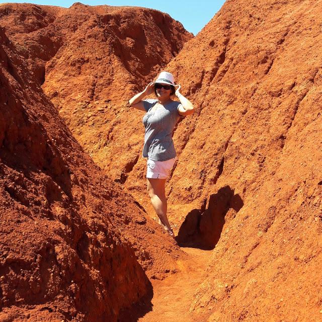 La cava di bauxite a Otranto in Puglia