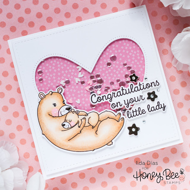 Welcome, Baby Shaker Cards, Honey Bee Stamps, Card Making, Stamping, Die Cutting, handmade card, ilovedoingallthingscrafty, Stamps, how to,