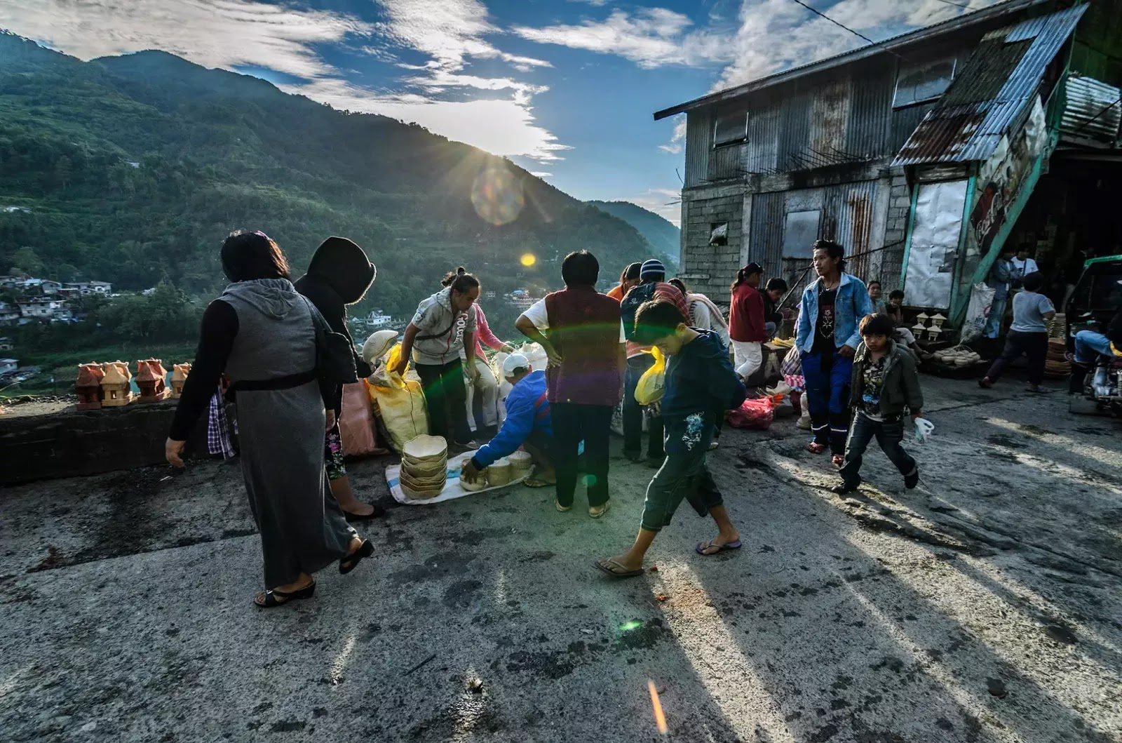 One Ifugao Morning Banaue Saturday Community Street Markt Cordillera Administrative Region Philippines
