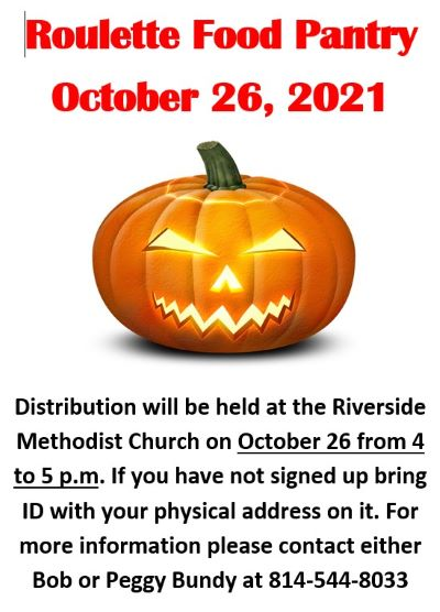 10-26 Roulette Food Pantry, Riverside Methodist Church